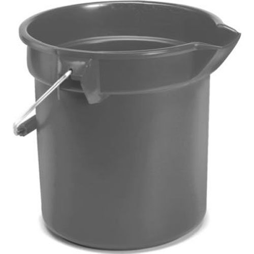 l FG296300GRAY Brute HDPE Heavy-Duty Bucket, 10-quart, Gray (10 Qt Plastic Pail)