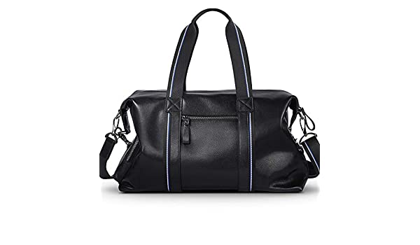 41571bf122 Extra Large Genuine Leather Overnight Weekend Travel Duffel Bag Business  Men s and Women s Handbags Sports Gym Bags Totes Cross-Body Bags Shoulder  Bag ...