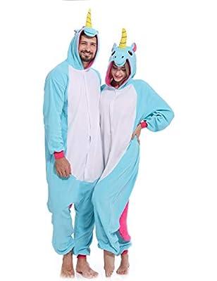Unicorn Onesie Adult Pajamas One Piece Cosplay Halloween Costume for Women Men
