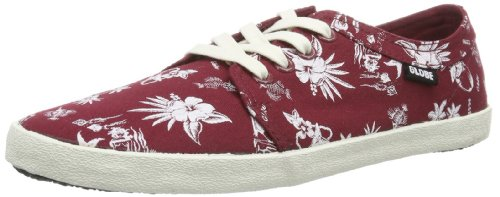 De Homme Print 19839 Red Rot brick Chaussures Globe Skate Belly hawaiian Red wxHUX