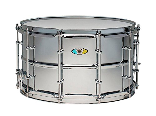 (Ludwig Supralite Steel Snare Drum 14 x 8 in.)