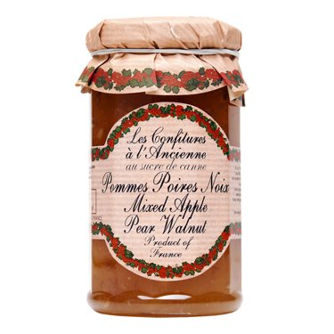 (Apple Pear Walnut Jam Andresy All natural French jam pure sugar cane 9 oz jar Confitures a l'Ancienne, One )