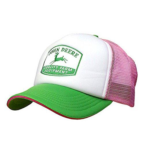 John Deere Women's Foam Front Mesh Trucker Hat Pink
