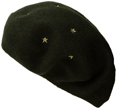 BCBGeneration Women's Star Beret, Dusty Olive, One Size