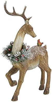 Multicolor Christmas Collection 10018554 Prancer Reindeer Figurine