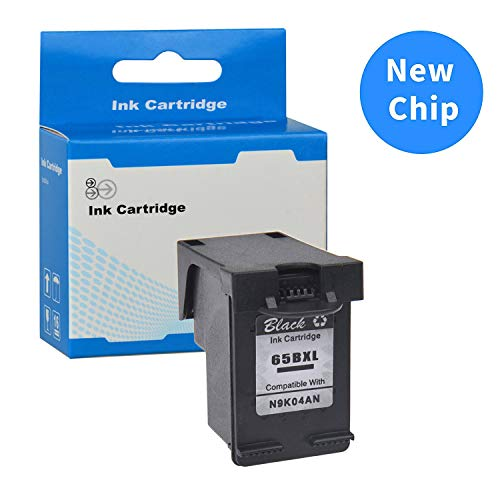 SuperInk Remanufactured Ink Cartridge Replacement for HP 65 65XL 65 XL N9K04AN with New Chip Compatible with HP Envy 5052 5055 5058 DeskJet 2622 2655 2624 Printer (Black,1-Pack) -  KINGSALES TECH INC., ZJHP65BXLNEW1PK/CA124
