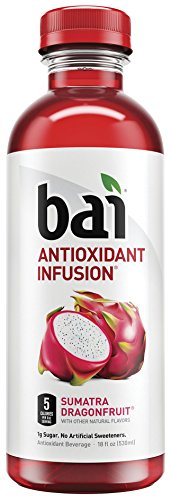 Fruit Flavored Beverage - Bai Flavored Water, Sumatra Dragonfruit, Antioxidant Infused Drinks, 18 Fluid Ounce Bottles, 12 count