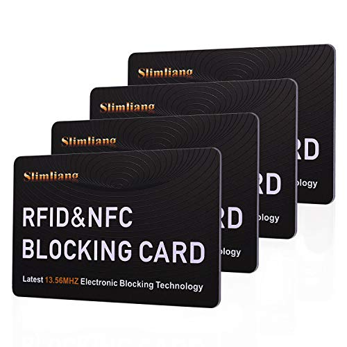 RFID Blocking Card, Fuss-Free Protection Entire Wallet & Purse Shield, Contactless NFC Bank Debit Credit Card Protector Blocker(White)