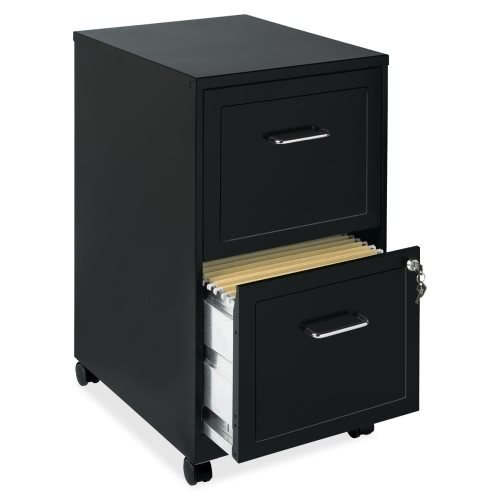Lorell 16872 2-Drawer Mobile File Cabinet, (Drawer Storage Mobile Cabinet)