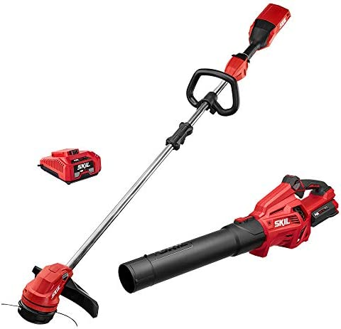 Skil CB7478-10 PWRCore 40 Brushless 40V Cordless 14 String Trimmer and Blower Combo Kit Includes 2.5Ah Battery and Auto PWRJump Charger