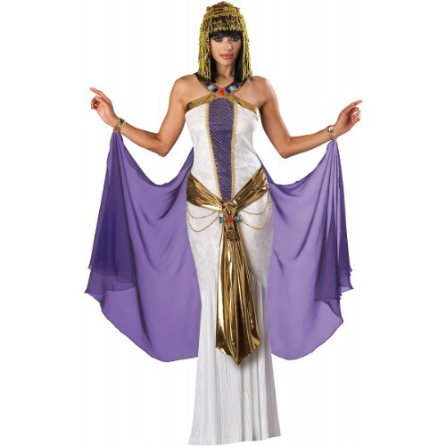InCharacter Costumes, LLC Jewel Of The Nile Full Length Panne Gown, White/Purple, X-Large]()
