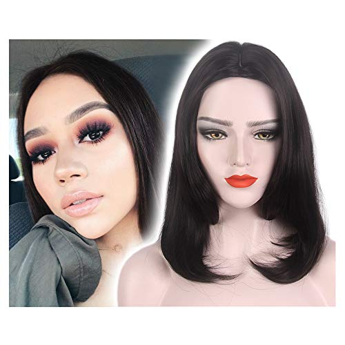 STfantasy Bob Wig Short Straight Black Synthetic Hair for Women Natural Looking Everyday -