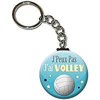 J'peux pas J'ai Volley Ball Club Sport Porte Clés Chaînette 3,8 centimètres Idée Cadeau Accessoire Humour Mytho Excuse