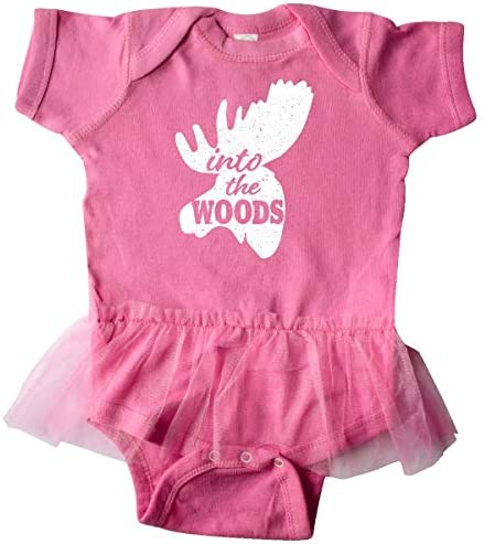 inktastic Moose Head Silhouette Into The Woods Infant Tutu Bodysuit