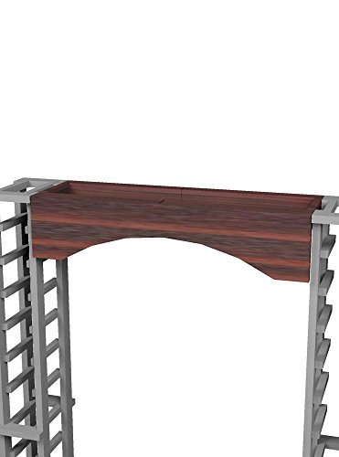 Wine Cellar Innovations RP-DW-ARCH2-A3 Traditional Series Archway Wine Rack, Rustic Pine, Dark Walnut Stain