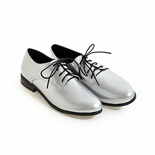 oxford Silver Hecater Lace Women's leather up Shoes Wingtip patent 3 AYqzAw