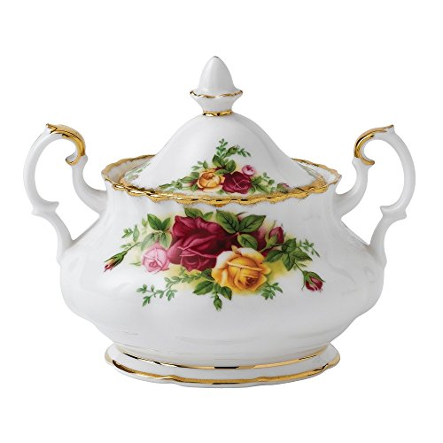 Royal Albert Old Country Roses Covered Sugar Bowl Fine China Covered Sugar Bowl