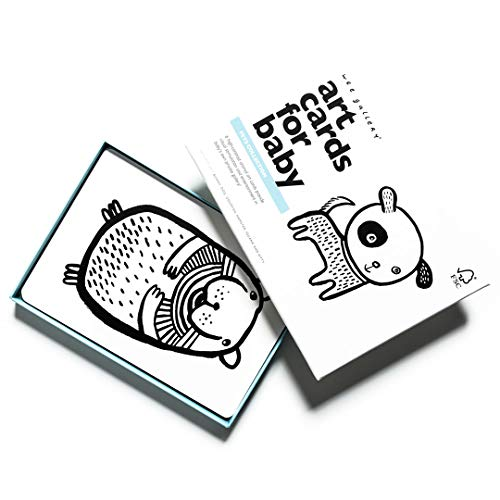 Black White Collection - Wee Gallery, Art Cards for Baby, Black and White Baby Cards, 0-12 Months - Pets Collection