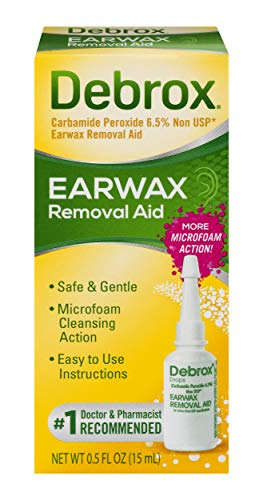 Debrox Earwax Removal Aid Drops | Safely and Gently Cleanses Ear | 0.5 FL OZ (Best Ear Wax Removal Method)