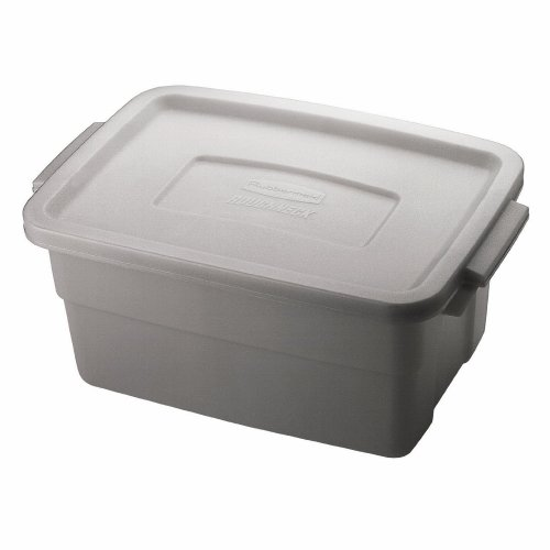 3 Gallon Roughneck Storage Box in Steel Gray by Rubbermaid