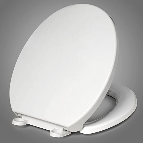 ound Toilet Seat with Cover size 17x14 inch Whisper Close Hinges (14 Inch Hinge)