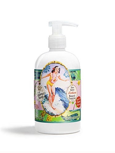 Dolce Mia Surfer Girl Mango Tangerine Shea Butter Lotion With Organic Botanicals 12 oz.