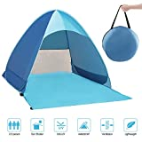 Zenoplige Pop Up Tent, UV Lightweight Waterproof Foldable Outdoor Beach Camping Tent as Sun Shelter Children Family and Dog on Garden, Beach