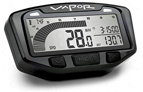 Trail Tech 752-119 Black Vapor Digital Speedometer Tachometer Gauge Kit, 1995-2019 KTM Honda Yamaha Kawasaki Suzuki