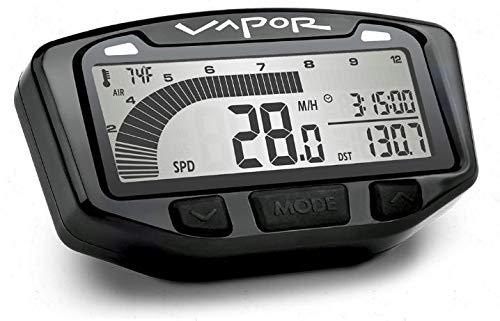 Trail Tech 752-116 Black Vapor Digital Speedometer Tachometer Gauge Kit, 2000-2019 Honda Yamaha Suzuki CRF DR200 TTR TW XT