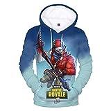 Duhud Teen Girls and Boys 3D Print Hoodie Unisex Pullover Sweatshirts G S