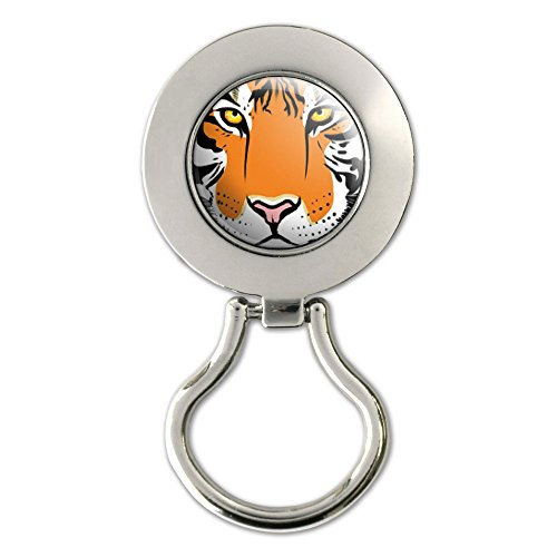 Tiger Face - Safari Big Cat Magnetic Metal Eyeglass Badge Holder