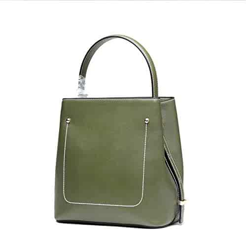 4e25324b56cd Shopping Straw or Leather - Satchel - Greens - Shoulder Bags ...