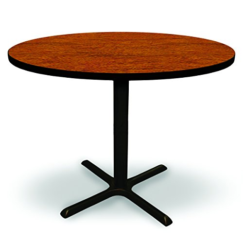 48'' Round Conference, Break Room, 42'' Tall Table (Café Height) - Collectors Cherry Laminate/ Black Finish by MAMOF