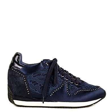 aba70482ccc Imagen no disponible. Imagen no disponible del. Color  Ash Zapatos Blush  Zapatillas de Cuña Azul Marino Mujer 41 ...