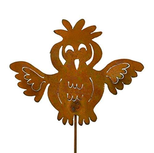 Goofy Owl Rusty Metal Yard Stake