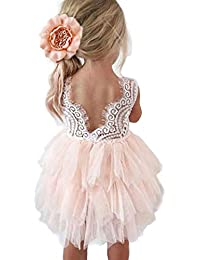 25b0e6fc6ec Backless A-line Lace Back Flower Girl Dress