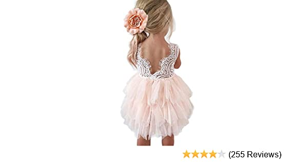 a28e764ffb3 Topmaker Backless A-line Lace Back Flower Girl Dress