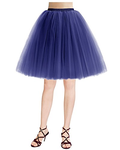 Couches rtro Tulle varies en 5 Jupon Royal Couleurs Vintage Tutu Jupe Bridesmay Blue nYZqR0n