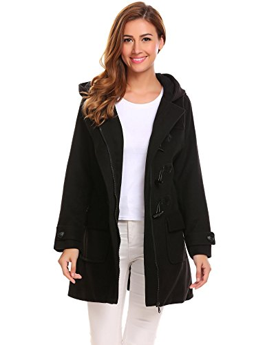 Wool Blend Hooded Coat - 6