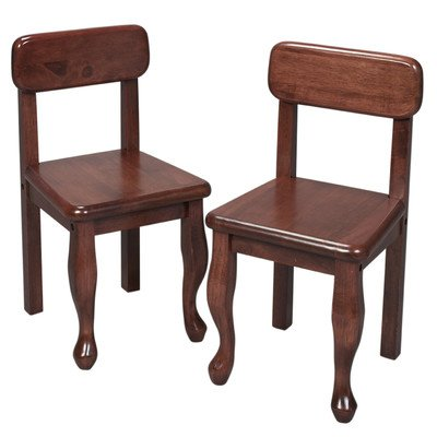 Gift Mark Queen Anne Children's Chair Set, (Anne Side Chairs Set)