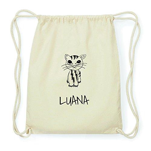 JOllipets LUANA Hipster Turnbeutel Tasche Rucksack aus Baumwolle Design: Katze B5ATC1