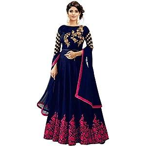 Vaani Creation Women's Anarkali Maxi Gown With Dupatta