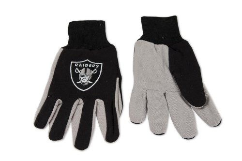 NFL Oakland Raiders Two-Tone Gloves, Black/Gray ()