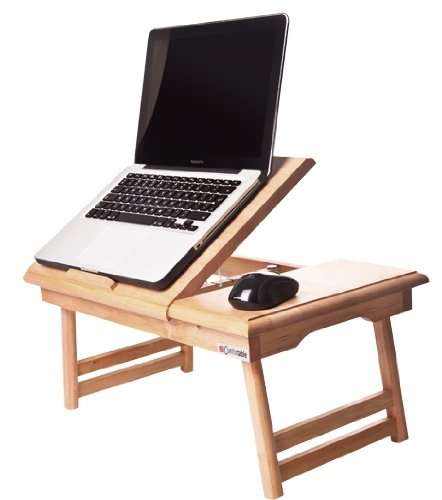 Mesa para ordenador portátil cómodo 15. Incluye nombre engravement. Plegable para ordenador portátil PC, pupitre portátil ...
