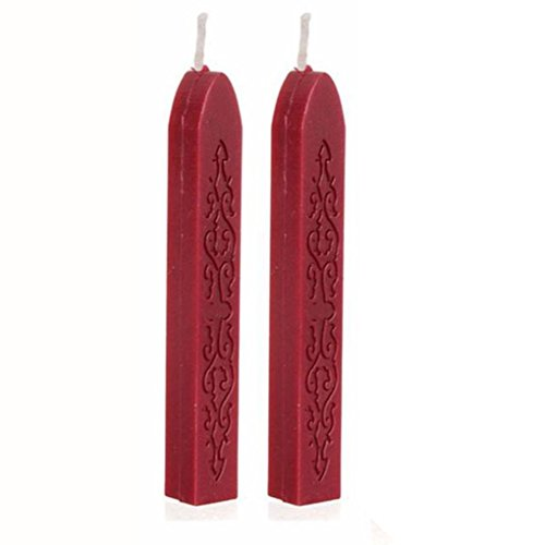 - Gbell 2 Pcs Sealing Wax Sticks Wax for Postage Letter Manuscript, Retro Vintage Wax Seal Stamp (Red)