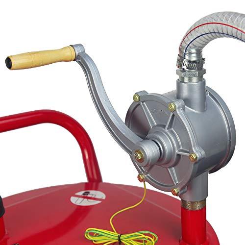 STKUSA 35-Gallon Portable Fuel Transfer Gas Can Caddy Storage Tank 35gal-Capacity Pump w/Wheel by STKUSA (Image #4)