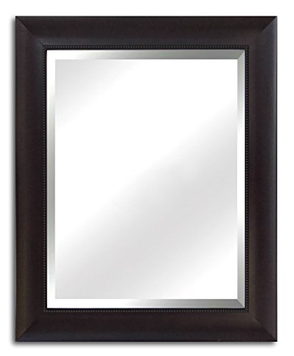 West Frames Napa Vanity Bedroom Bathroom Espresso Framed Wall Mirror 30″ X 42″