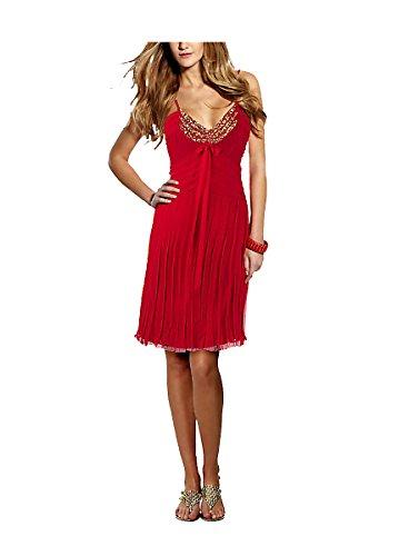 Rot BELOUNGED Seiden Kleid Rot Abendkleid Damen aq1qY