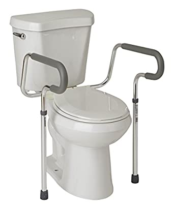 Amazon.com: Medline\'s Guardian Toilet Safety Rail with adjustable ...