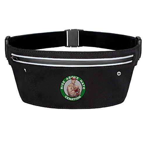 [WWE John Cena Running Pouch Belt Waist Packs Black] (Randy Orton Costume)